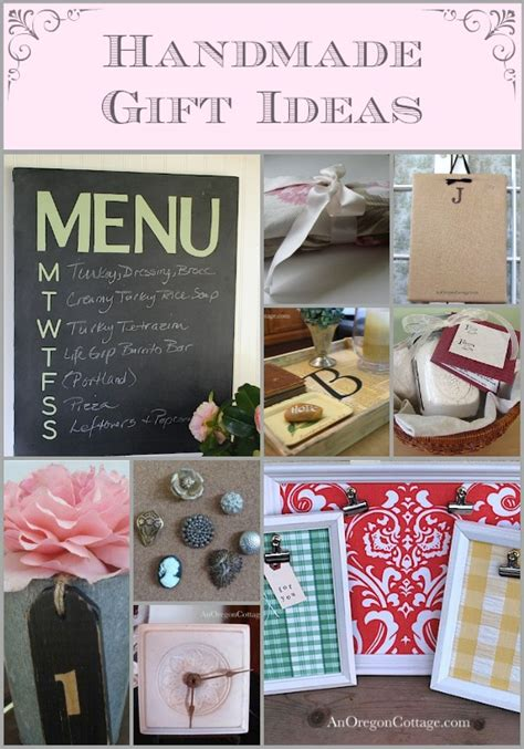 Handmade Gift Ideas - handmade gifts on an oregon cottage