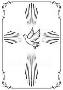 emblem template symbolic cross and dove template emblem for church stock