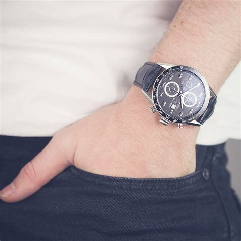 Tag Heuer Cal 1887 Car2a10 Black On Leather Swiss Eta 1 1 tag heuer car2a10 fc6235 2014 com664 second watches