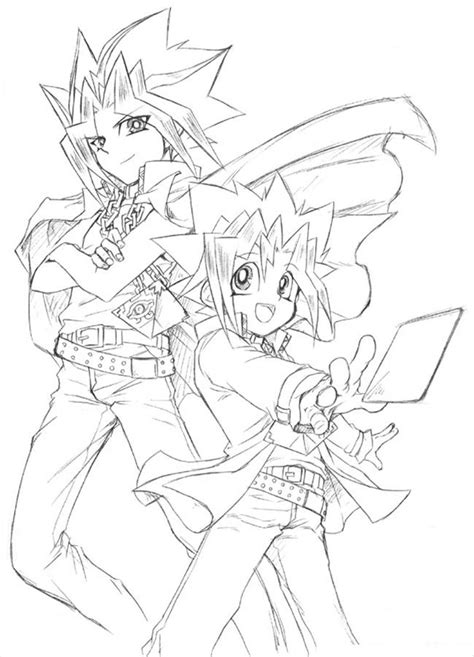free printable yugioh coloring pages yu gi oh pencil colouring pages