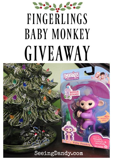 Giveaway Monkey - fingerlings baby monkey giveaway authentic wowwee seeing dandy