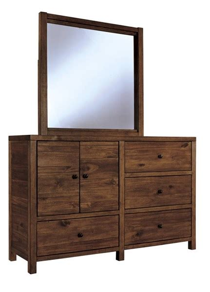 light brown dresser with mirror fennison contemporary light brown wood glass dresser and