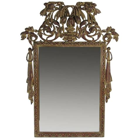 antique carved decorative wall mirror for sale at 1stdibs
