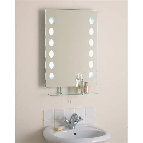 El Korcula Korcula Bevelled Bathroom Mirror With Pull Mirror Light Bathroom