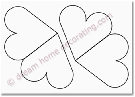 of hearts card template templates free printable blank