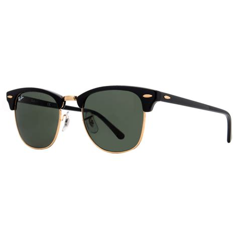Rayban Clubmaster Unisex Sunglasses Rb3016 ban rb 3016 clubmaster unisex sunglasses black and