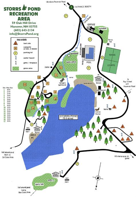 area map of area map storrs pond recreation area