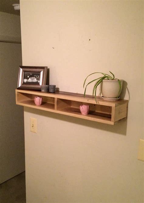 wood floating shelf rustic home decor rustic by floating shelf with divider wood shelf rustic home decor