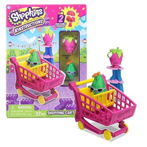 shopkins kinstructions shopping cart strawberry posh pear construction toys