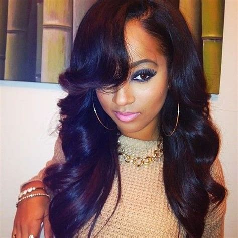 wet and wavy with a bang 37 best images about human hair weave on pinterest