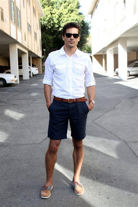 s white longsleeve shirt brown leather belt navy