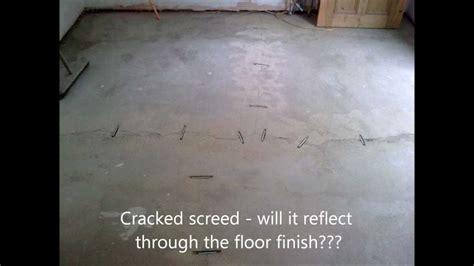 Cracked Screed Repair   Epoxy & Fibreglass Stitching.wmv