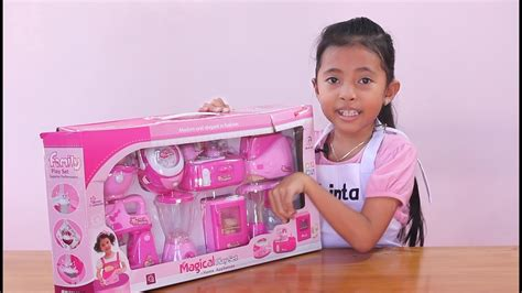 Mainan Anak Perempuan Masak Masakan Termurah 1 unboxing mainan anak kitchen set toys for mainan anak perempuan masak masakan