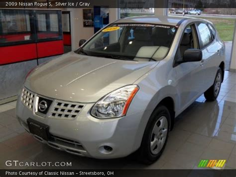 silver ice 2009 nissan rogue s gray interior