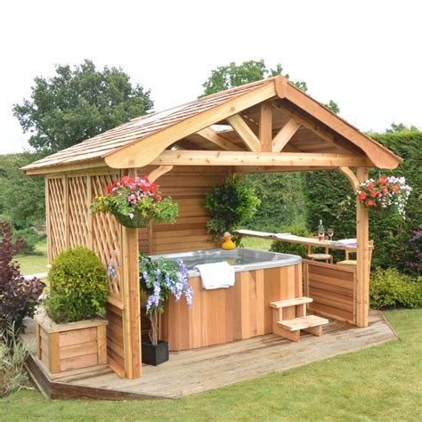 cedarwood gazebos summit leisure tub enclosures