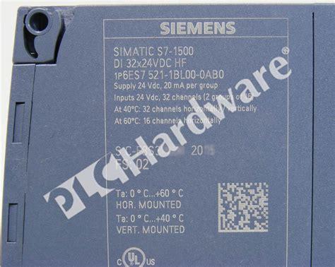 6es7521 1bl00 0ab0 Simatic S7 1500 Digital Input Module Di plc hardware siemens 6es7521 1bl00 0ab0 simatic s7 1500 digital input 32 p