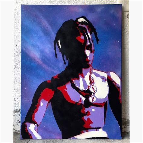 travis scott astroworld stencil art graffiti  leiti