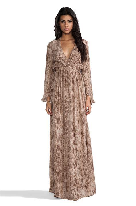 Longdress Maxi Dress lyst loveshackfancy shack fancy sleeve maxi dress in brown