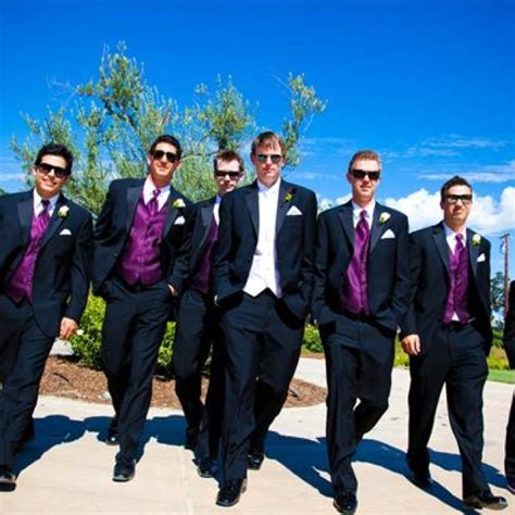 purple goes so well with formal tux purple