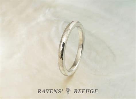 Handmade Wedding Band - handmade wedding band hammered platinum ring ravens