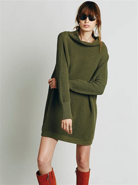 free people slouchy ottoman tunic free people womens ottoman slouchy tunic in green lyst