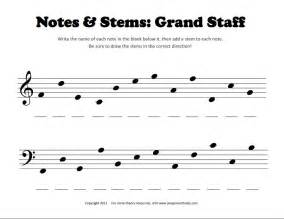 students must identify notes on the grand staff then