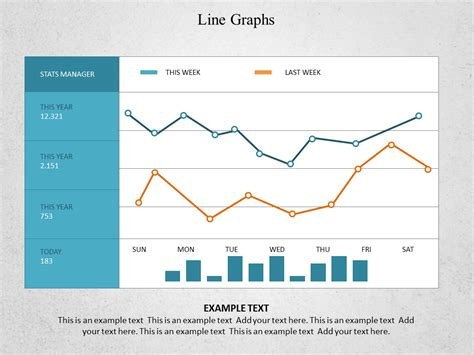 line graphs powerpoint templates and backgrounds