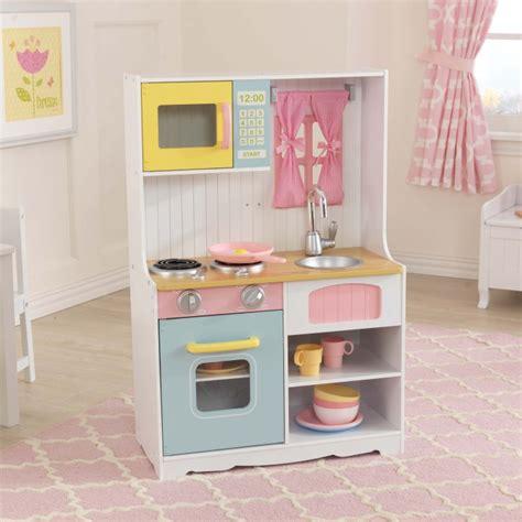 cuisine en bois kidkraft jouets des bois cuisine en bois pastel country 53354