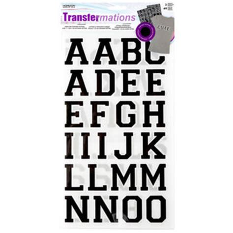 Transfermations Iron On Letters