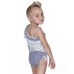 Hula star blue white nautical 2pc tankini swimsuit little girls 4 6x
