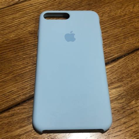 apple accessories sky blue silicone iphone    case