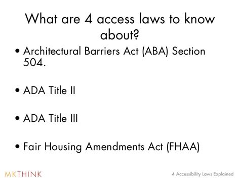 fair housing act section 504 4 accessibility laws governing architectural building