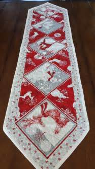 red white and silver christmas table runners by