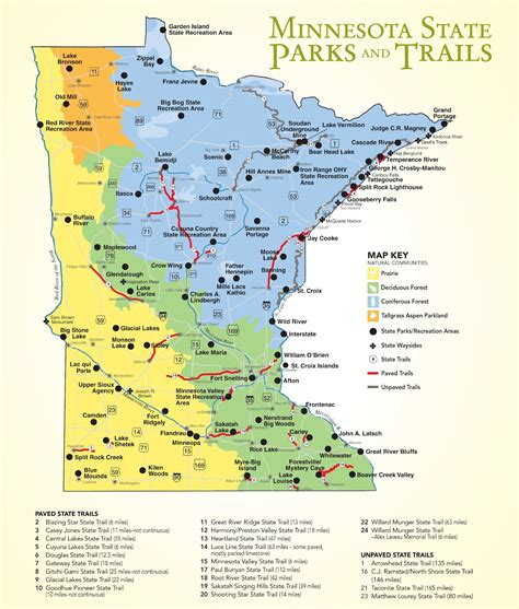 mn state parks map mn bike trail navigator minnesota s state parks provide many biking opportunities