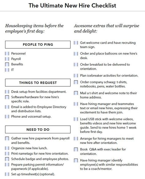 New Hire Onboarding Checklist Onboarding Pinterest Onboarding Checklist Onboarding New New Hire Orientation Template