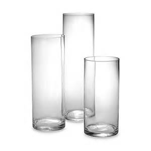 charisma terra glass cylinder vases set of 3 bed bath
