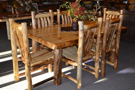 log dining room table aspen dining tables rustic furniture mall by timber creek