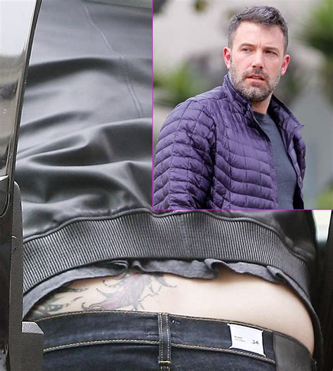 back tattoo ben affleck ben affleck spotted with giant back tattoo following