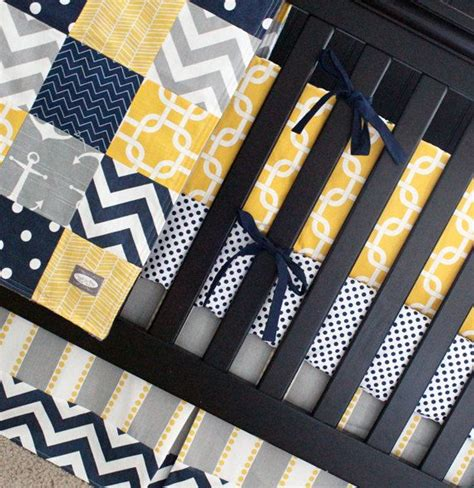 yellow and navy bedding yellow navy bedding nautical crib bedding yellow and