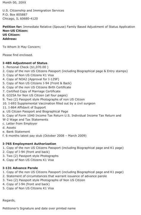 i 485 package cover letter aos package cover letter cover letter sles cover