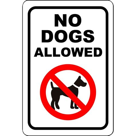 no dogs allowed no dogs allowed aluminum metal 8 quot x 12 quot sign ebay