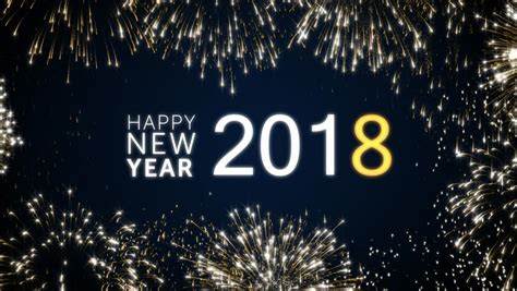 new year animation looping happy new year 2018 social post card with gold