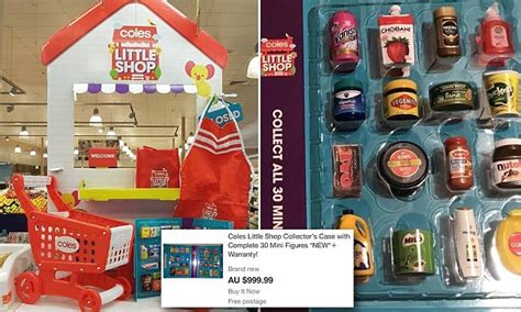 bid or buy shopping coles launch shop collectible miniature toys with