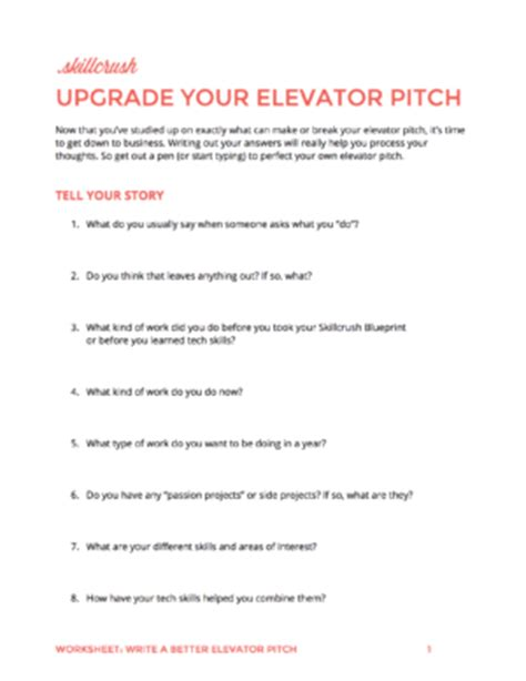 How To Write An Elevator Pitch A Step By Step Guide Elevator Pitch Template