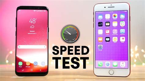 Samsung Galaxy S8 vs iPhone 7 Plus Speed Test