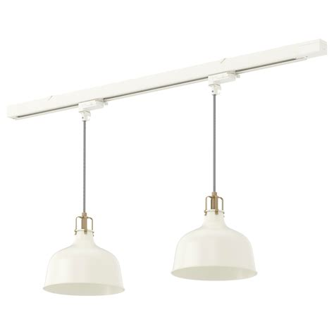 Track Pendant Lighting Ranarp Skeninge Track With 2 Pendant Ls Ikea