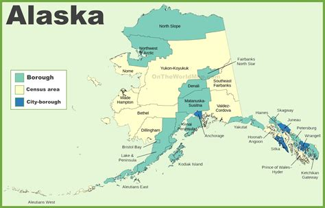 usa alaska map alaska boroughs and census area map