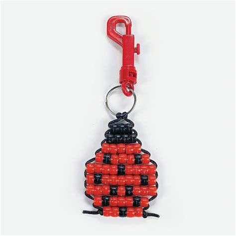 pony bead keychains pony bead ladybug key chain craft kit orientaltrading
