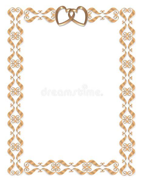 wedding invitation border designs gold wedding invitation border gold hearts stock illustration illustration of invitation card