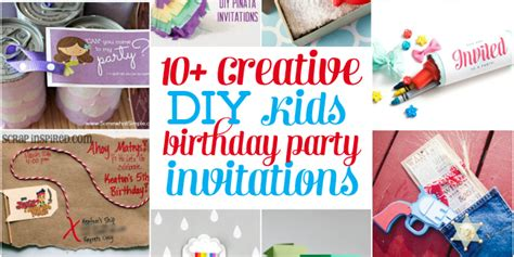 diy birthday invitation ideas 10 creative diy birthday invitations design dazzle